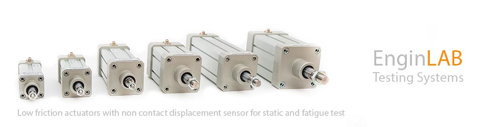 Low friction actuators for fatigue test machines
